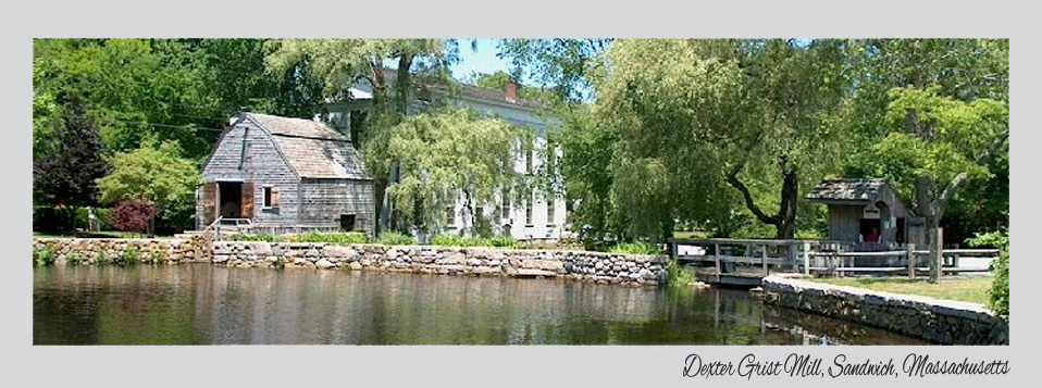 Image of the Dexter Grist Mill, Sandwich, MA | Sandwich Water District ? Water Supply
